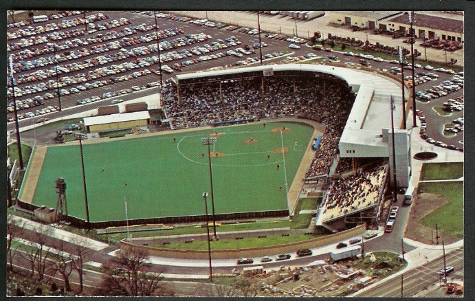 The stadium with astro-turf after its 1977 renovation
