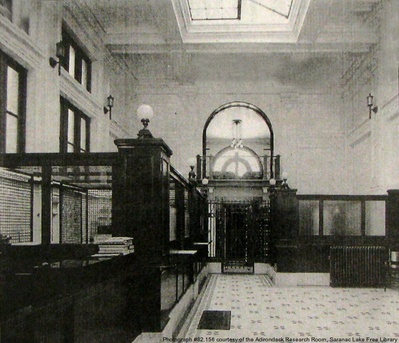 Interior of Adirondack National Bank (pre-1960's)