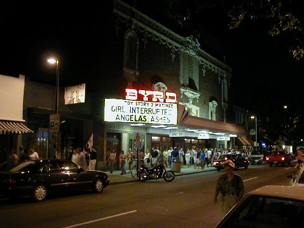 The Byrd's exterior at night.