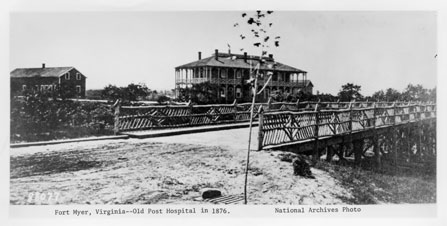 Post Hospital in 1876 (http://www.historic-fortmyer.com/)