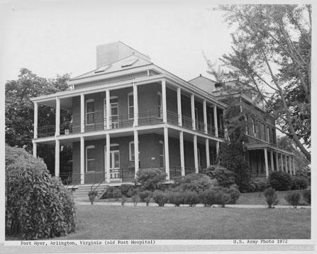Post Hospital in 1972 (http://www.historic-fortmyer.com/)