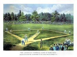 Picture of the field in the 1850s when it was being used