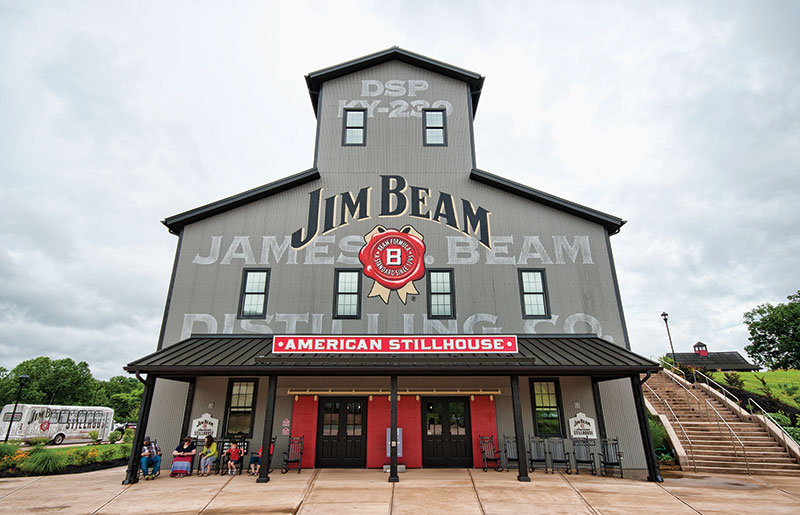 Jim Beam is the world's most famous bourbon. Visitors can learn all about how its made and even get a taste at the Jim Beam American Stillhouse at the Jim Beam Distillery in Clermont, Kentucky.