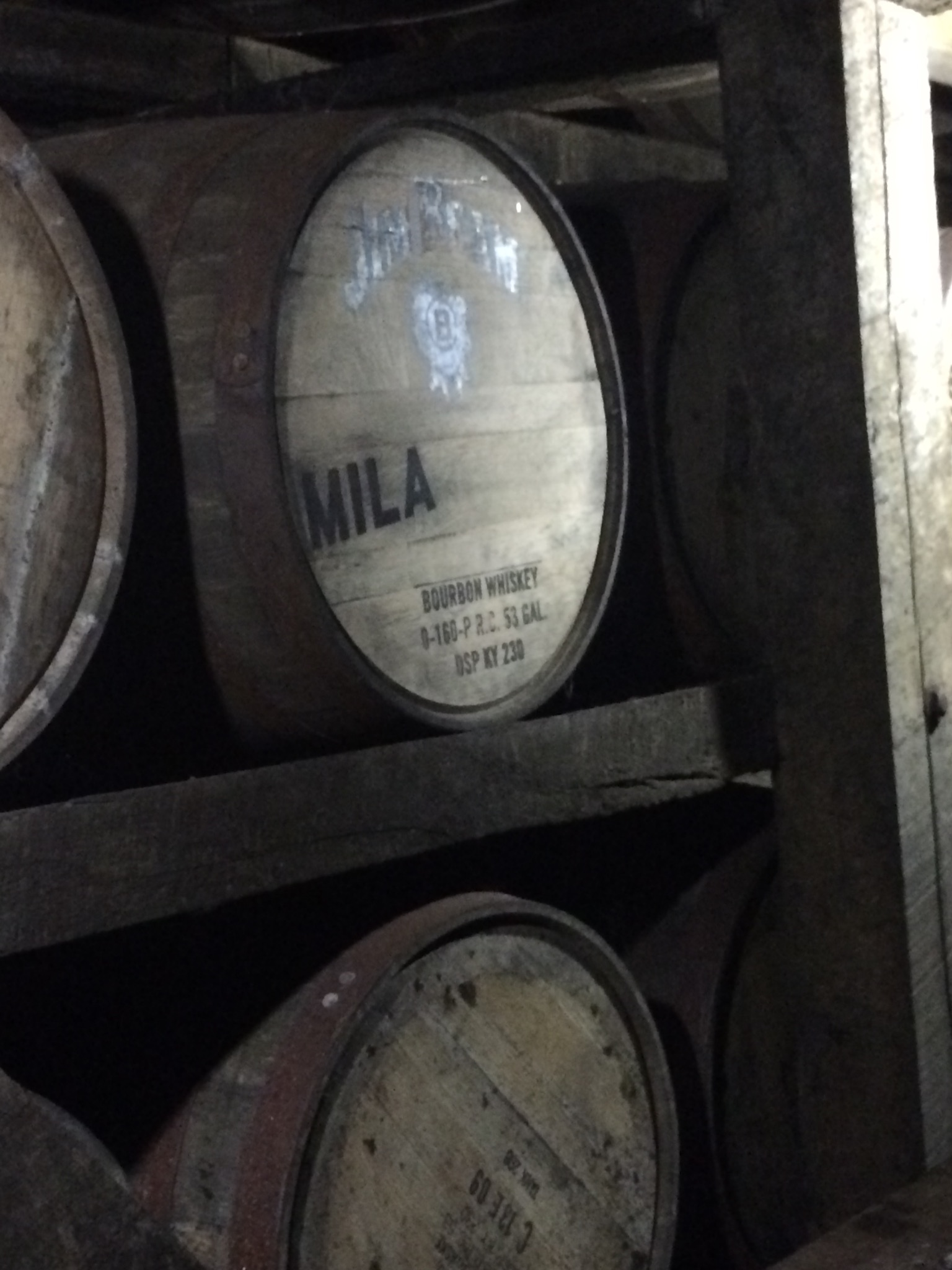 Mila Kunis' barrel at Jim Beam Distillery