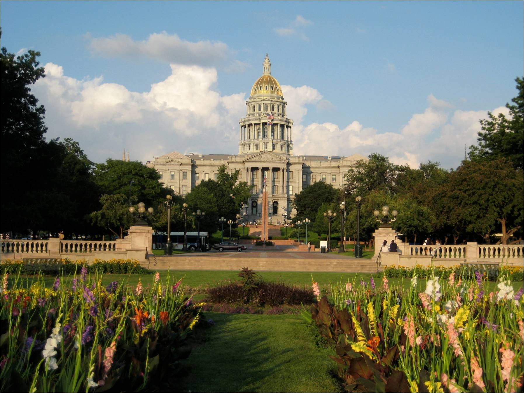 The Colorado State Capitol Building is located in downtown Denver and is on the National Register of Historic Places.