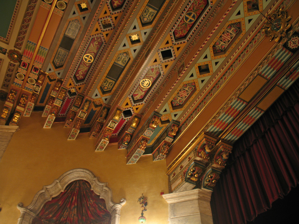 The ceiling of the main amphitheater
