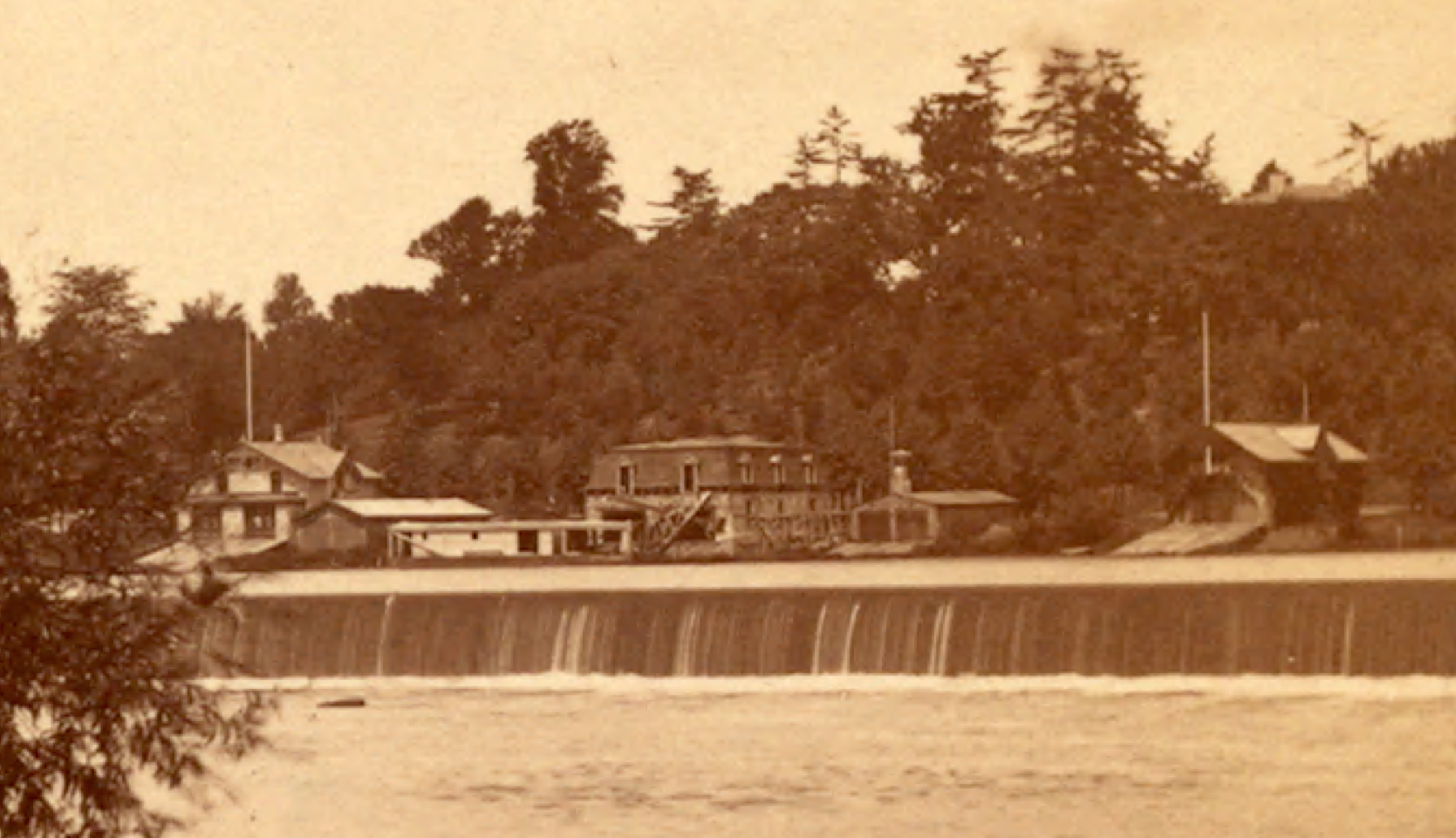 Fairmount Dam by James Cremer (1821-1893) (image from Wikimedia Commons)