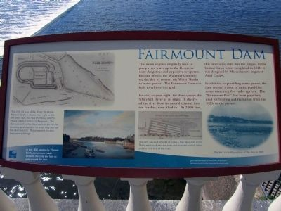 Fairmount Dam marker (image from Historic Marker Database)