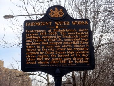 Fairmount Waterworks marker (image from Historic Marker Database)
