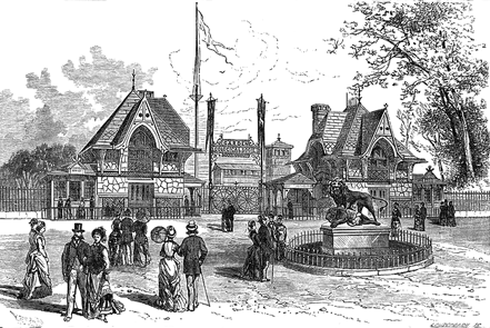 Historic image of the zoo gatehouse (image from Dr Physick)