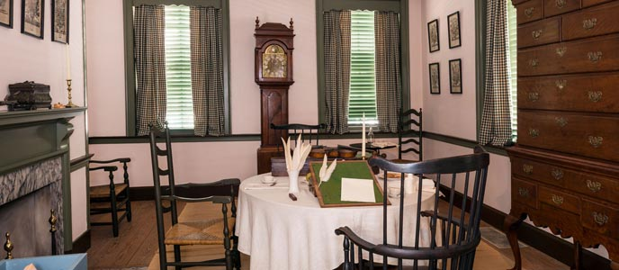 Reconstruction of Thomas Jefferson's parlor in Declaration House (image from the National Park Service)