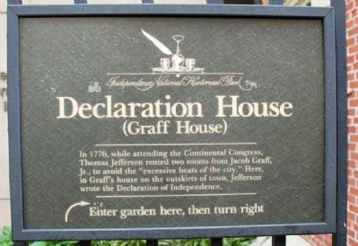Declaration House marker (image from Historic Markers Database)