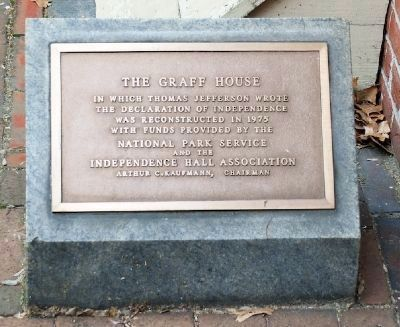 Graff House marker (image from Historic Markers Database)