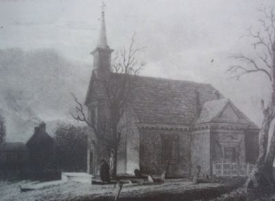 1825 engraving by C.G. Childs, depicting Old Swedes' Church (image from the Historical Society of Pennsylvania)