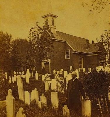 Reverend Clay in the Old Swedes' Churchyard c. 1860 (image from the Library of Congress)