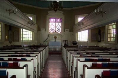 Interior of Old Swedes' Church (image from Historic Markers Database)