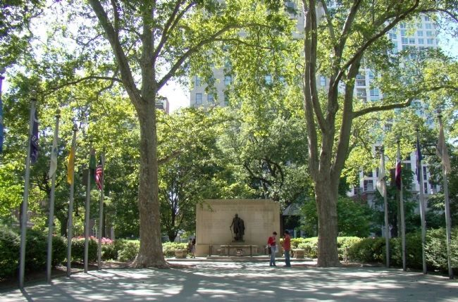Tomb of the Unknown Soldier in Washington Square (image from Historic Marker Database)