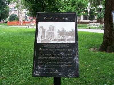 Capital City marker in Washington Square (image from Historic Marker Database)