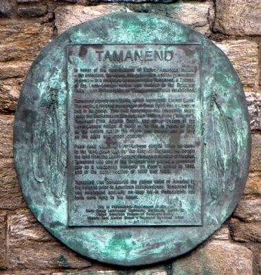 Tamanend marker (image from Historic Marker Database)