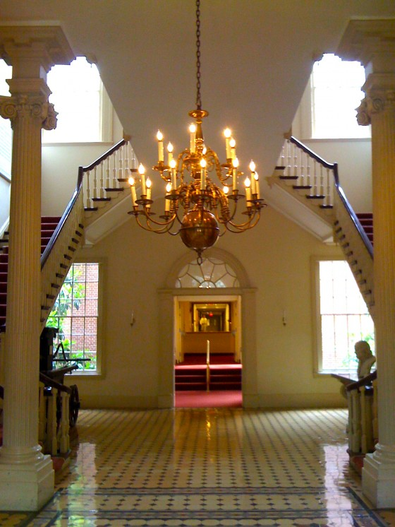 Interior of the Pine Building's central section, built 1804 (image from ocffreality.com)