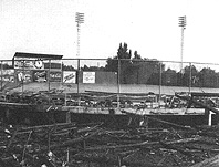 Edmonds Field after being destroyed by the fire.