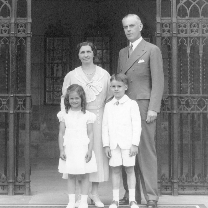 The Dodge-Wilson Family: Matilda, Alfred, and two of their children