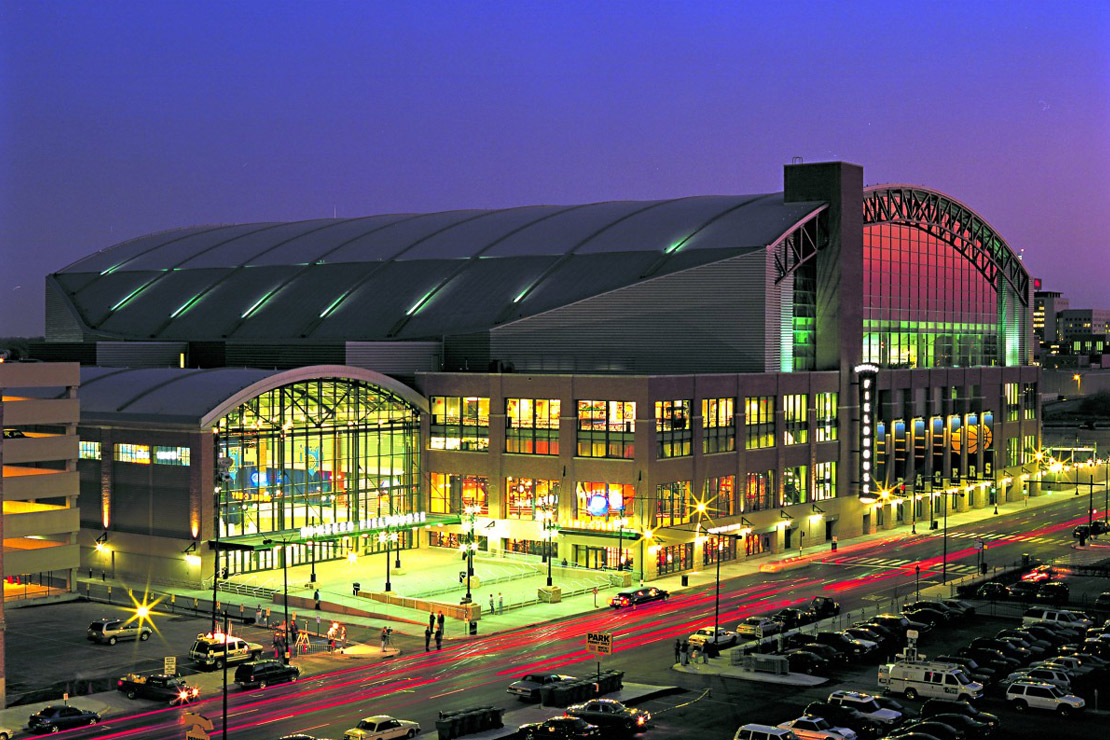 "Bankers Life Fieldhouse opened in 1999 and became the first stadium designed for a NBA franchise to include ""retro"" design features."