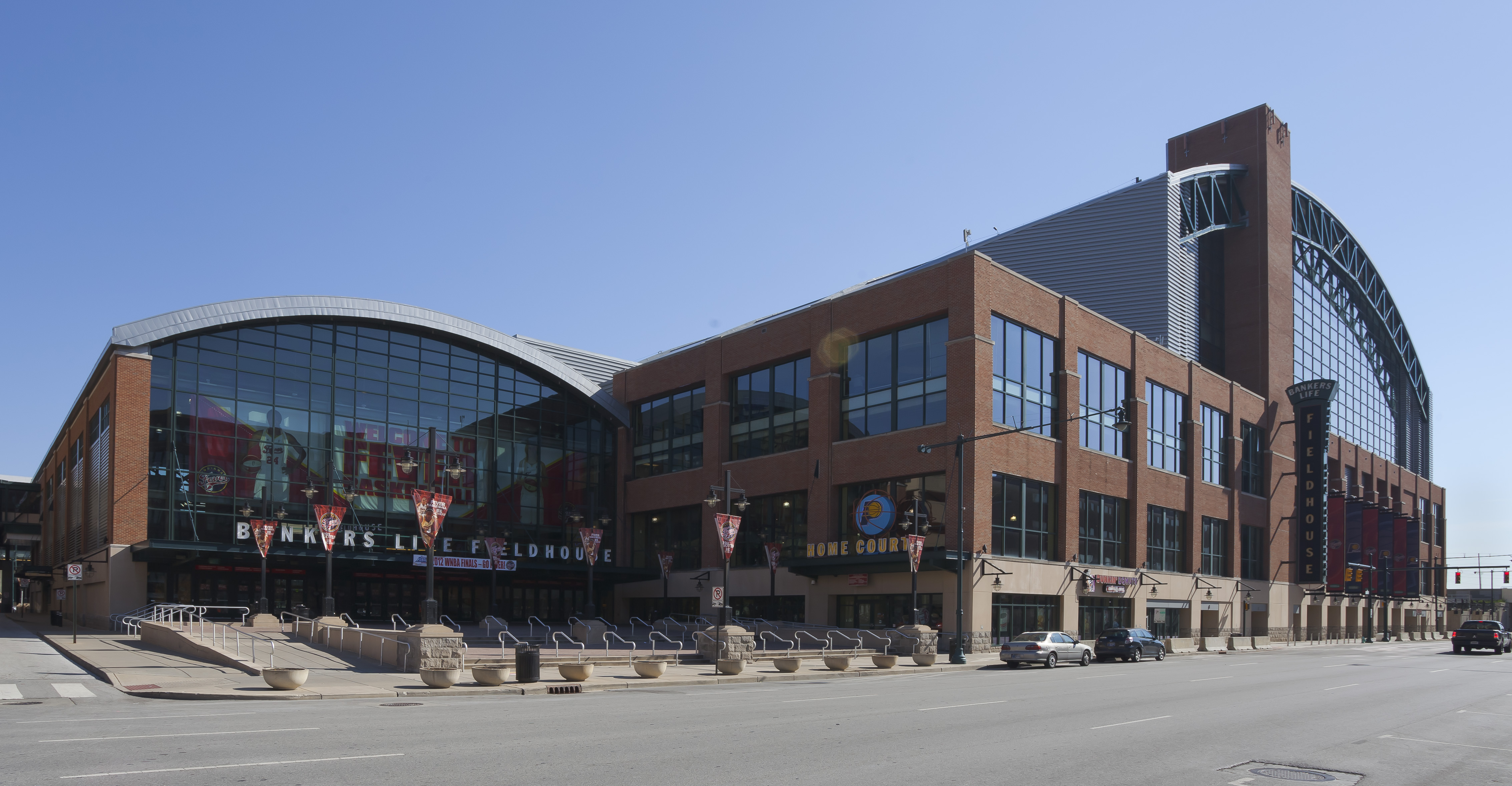 The stadium holds up to 18, 345 people and is also the home of the only women's professional basketball team in Indiana, the Indiana Fever.
