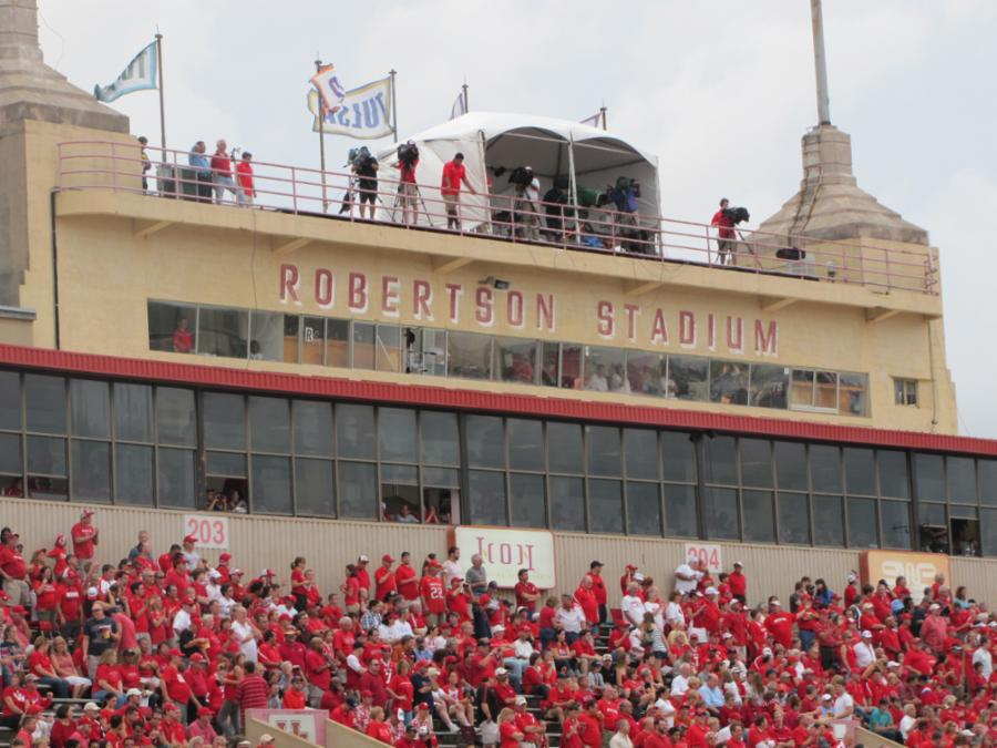 Robertson Stadium stood at this location from 1941 to 2012