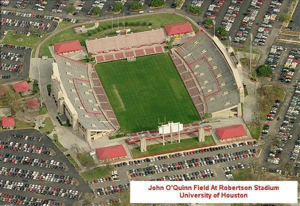An aerial view of Robertson Stadium