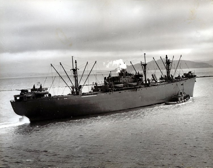 The SS Benjamin Warner, last Liberty ship launched on the West Coast and 519th manufactured by the Richmond Shipyard. (SanPedro.com)