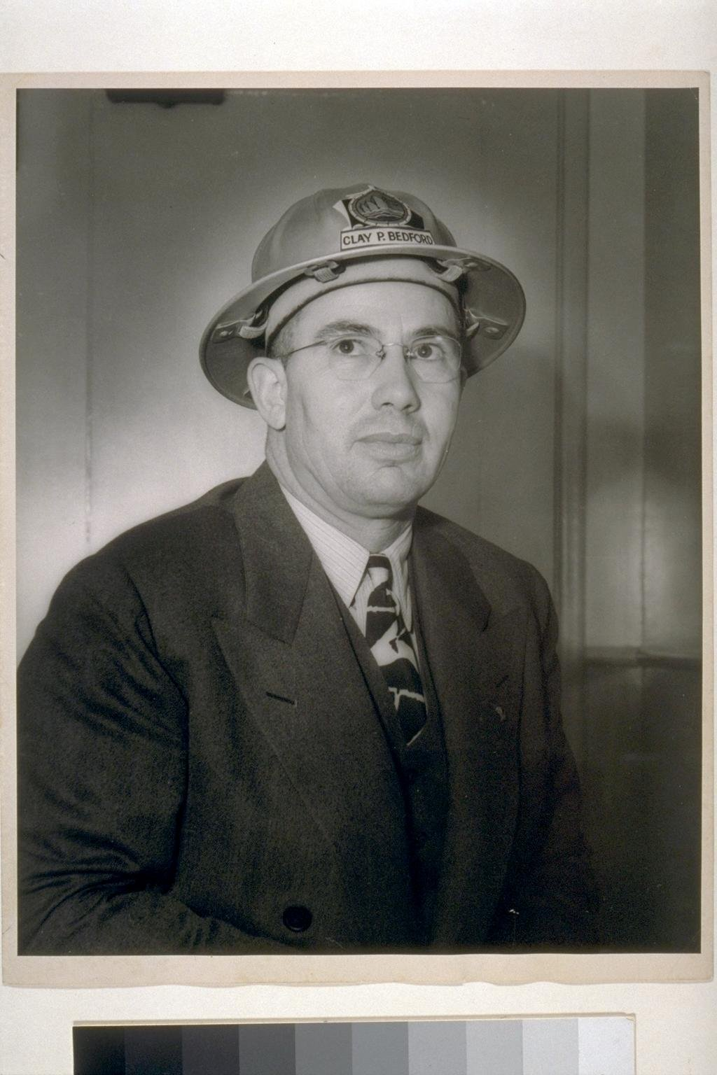 Clay P. Bedford, Vice President and General Manager of Kaiser's Richmond yards, and one of many brilliant logistical minds that helped revolutionize the shipbuilding industry during World War II. (UC Berkeley, Bancroft Library)