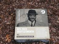 This marker is one of many tributes to Shuttlesworth's life in the city of Birmingham. The airport now bears his name and there is a statue of Shuttlesworth at the entrance to the Birmingham Civil Rights Institute.