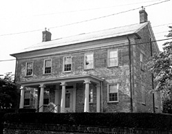 The Stone Academy building which served as the location for the Ohio Abolition Society conventions in 1835 and 1839.