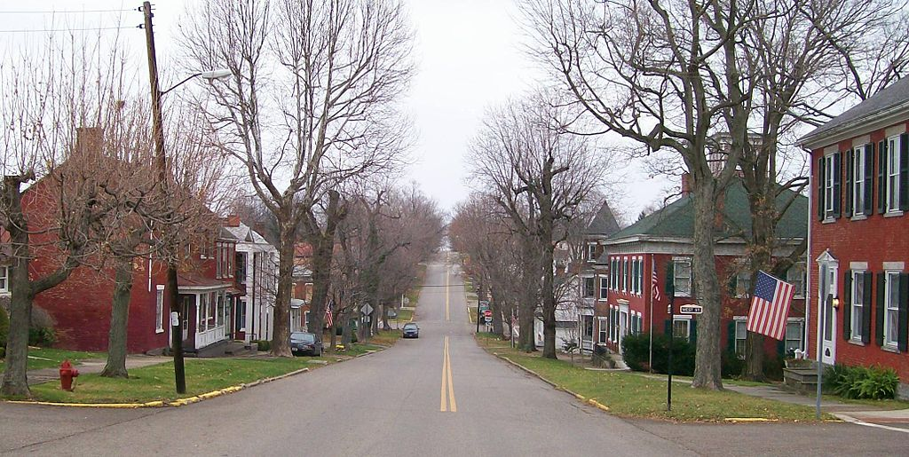 Union Street in Mount Pleasant, the center of the historical district.