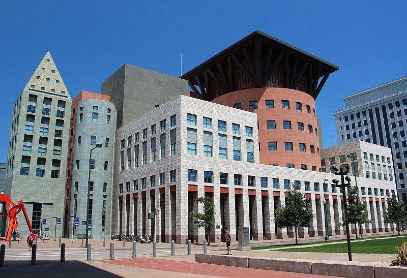 The Denver Public Library's Central Library was designed by world-renowned architect Michael Graves.