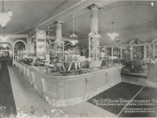 The O.P. Baur Confectionery Company was known the world over for its candies, cakes and ice cream sodas.