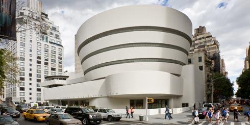 Exterior of the Guggenheim Museum.