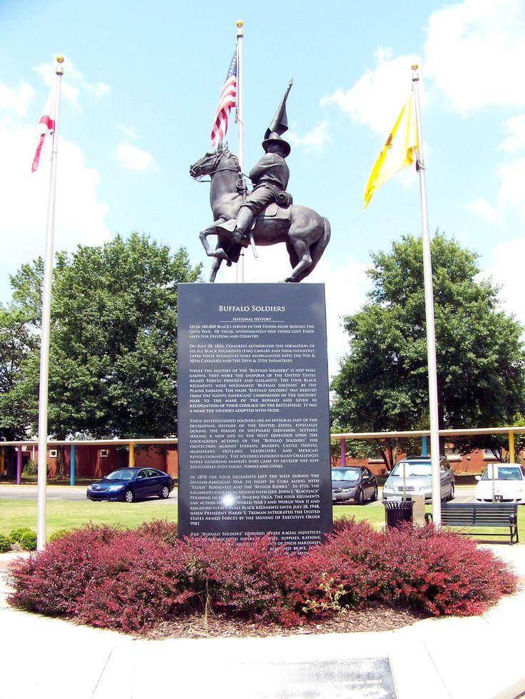 "The 10th Cavalry ""Buffalo Soldiers"" Memorial in Huntsville, Alabama."