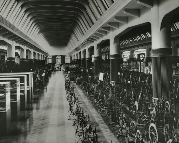 Inside the museum in its early years