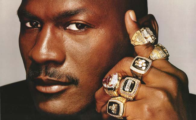 Jordan with his rings.