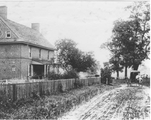A Picture of the home before Route 1 was expanded and moved to the other side of the house