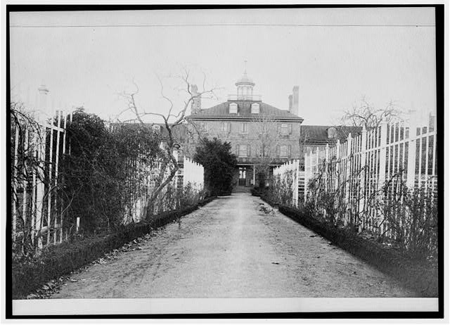 South facade of the quarantine station, photographed circa 1890 (image from the Historical Society of Pennsylvania)