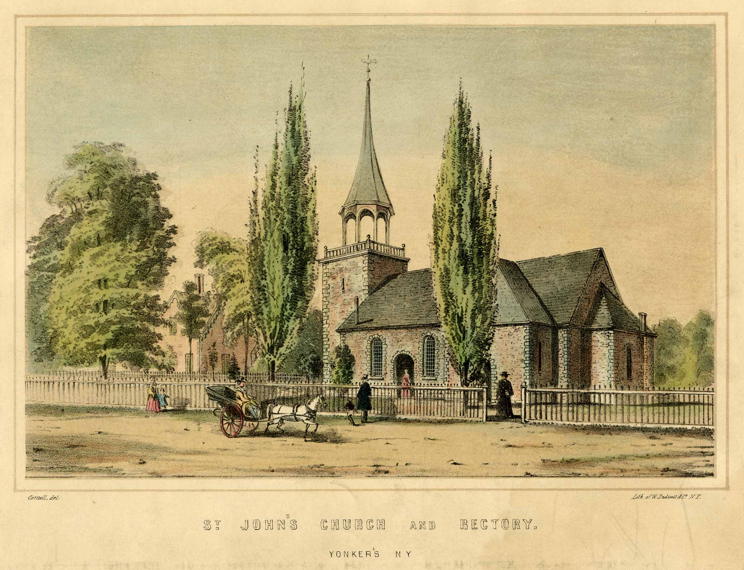 St. John's Episcopal Church in the middle of the 19th century.