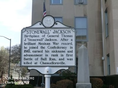 WV Historical Marker, located at the Courthouse.
