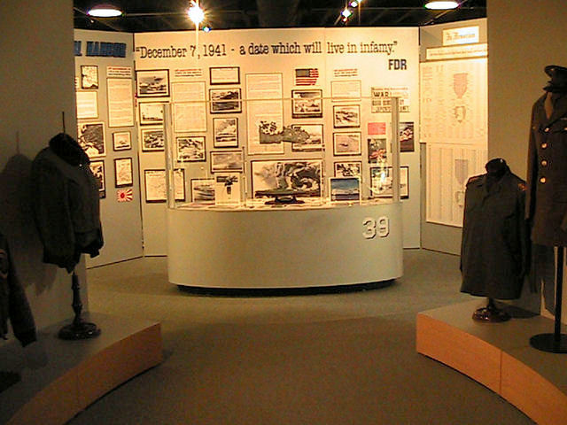 Pearl Harbor display in the museum.