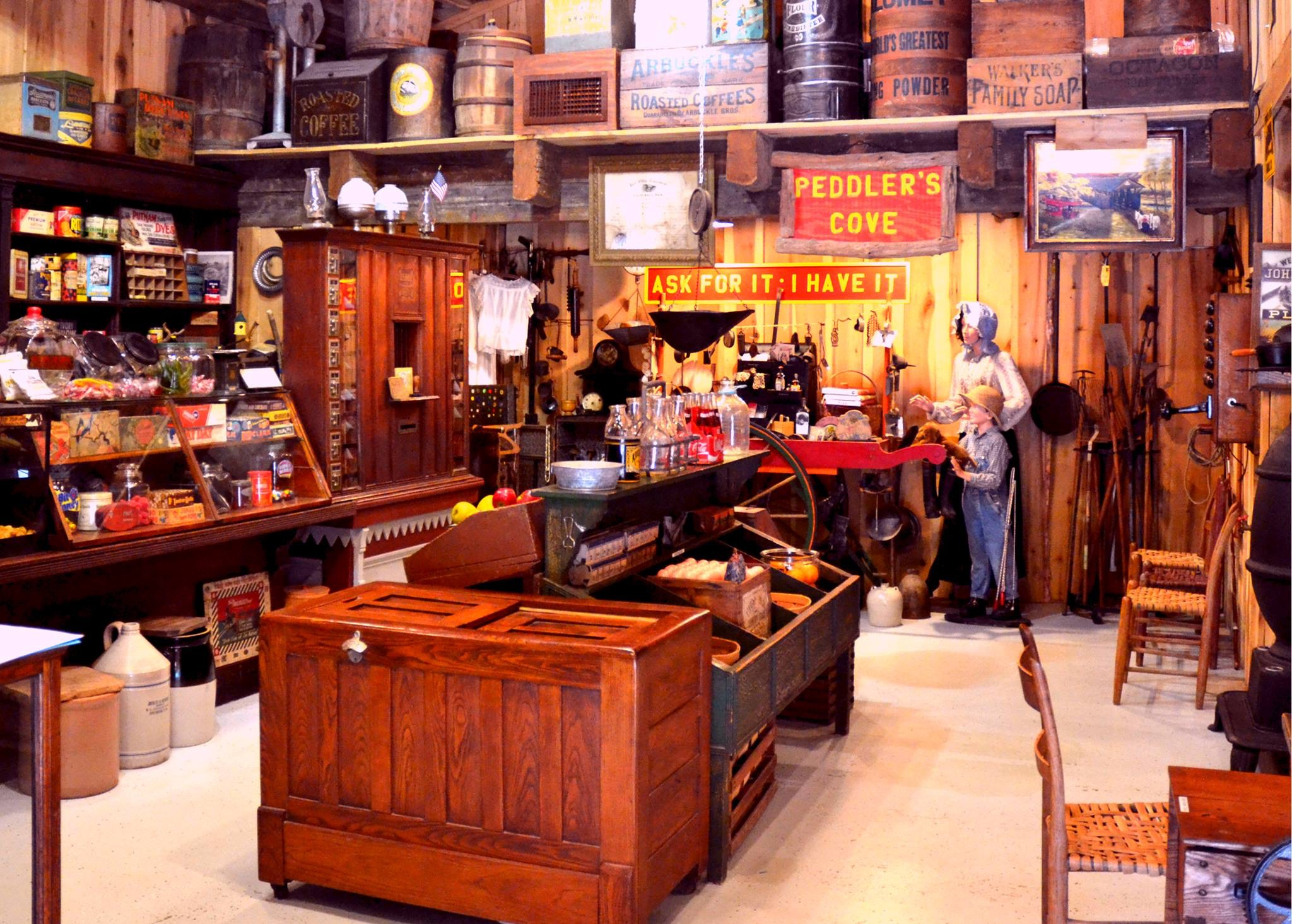 The museum features a variety of artifacts and products that could be found in general stores throughout the nineteenth and early twentieth centuries.