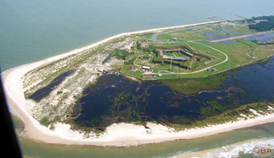 This is an aerial view of the fort.