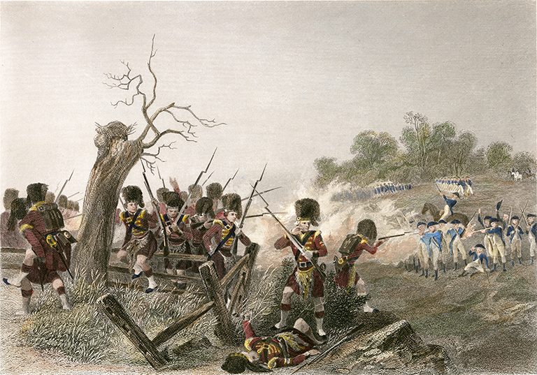 An artists depiction of the Battle of Harlem Heights, a small American victory that boosted morale following the loss of Long Island.