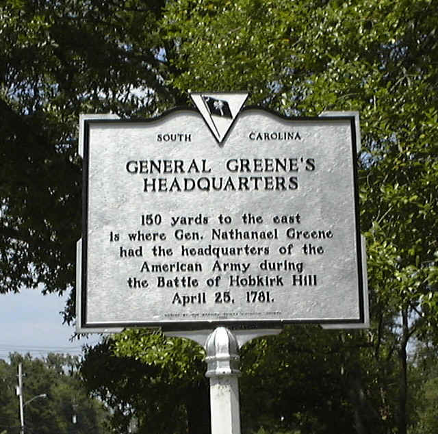 Historical marker for the headquarters of the American Army during the battle.